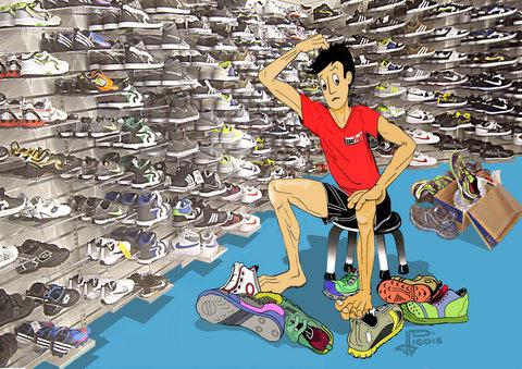 Comment choisir sa chaussure de course pied ssk formation - Dessin de course a pied ...
