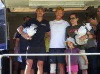 Podium Scratch 100km Thomas PIGOIS, AJ Calitz, JM Zaugg trail verdon 2013 expertrail