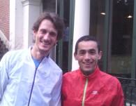 De gauche à droite, Thomas PIGOIS (Expertrail) et Thierry Breuil (Kalenji).