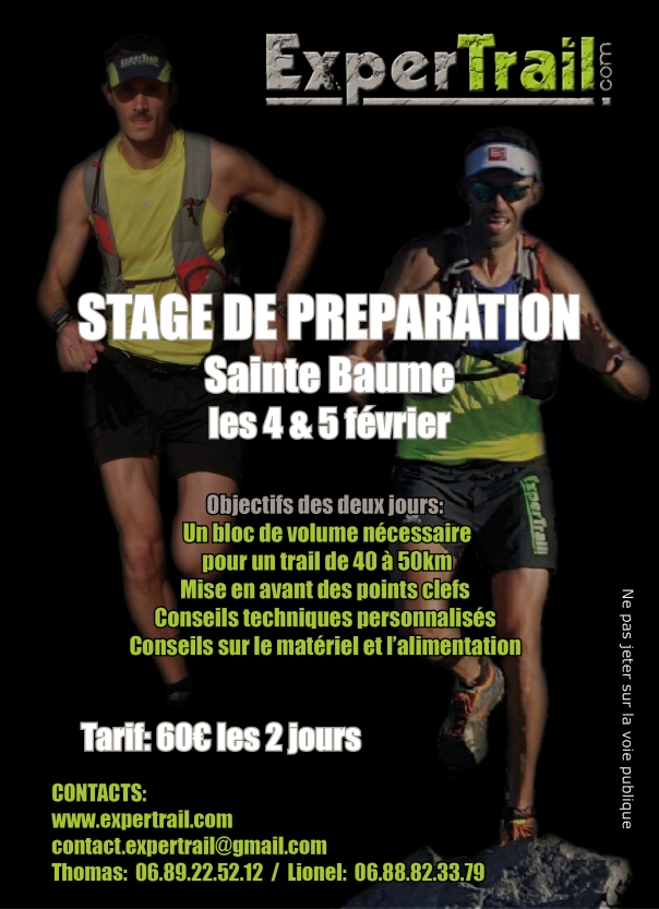 stage trail preparation sainte baume 4 5 fevrier 2017 expertrail thomas pigois